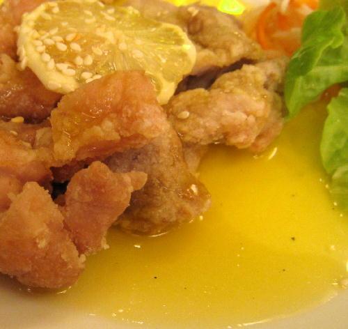 チキンのレモンソース2@萬珍楼點心舗.JPG