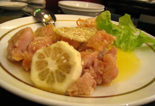チキンのレモンソース@萬珍楼點心舗.JPG