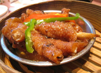 鶏の足黒豆みそ蒸し@菜香新館.JPG